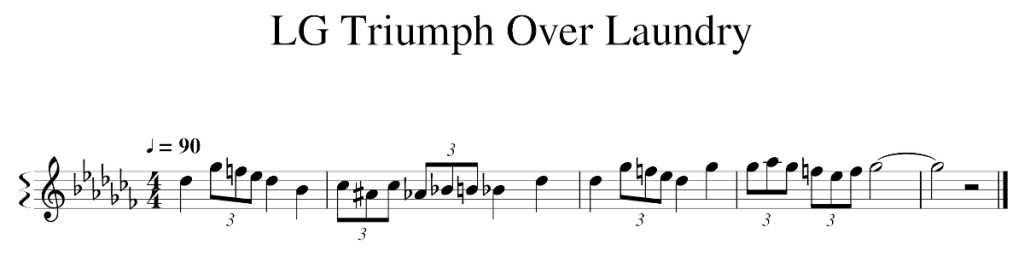 musical score for the LG theme