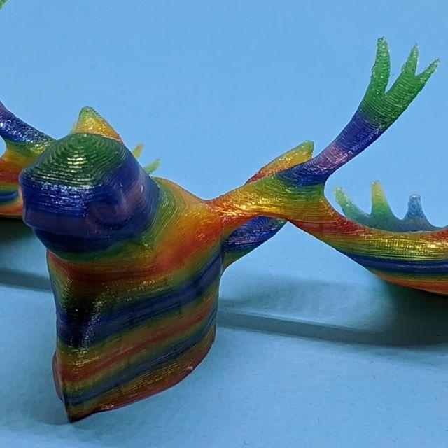 rainbow moose detail