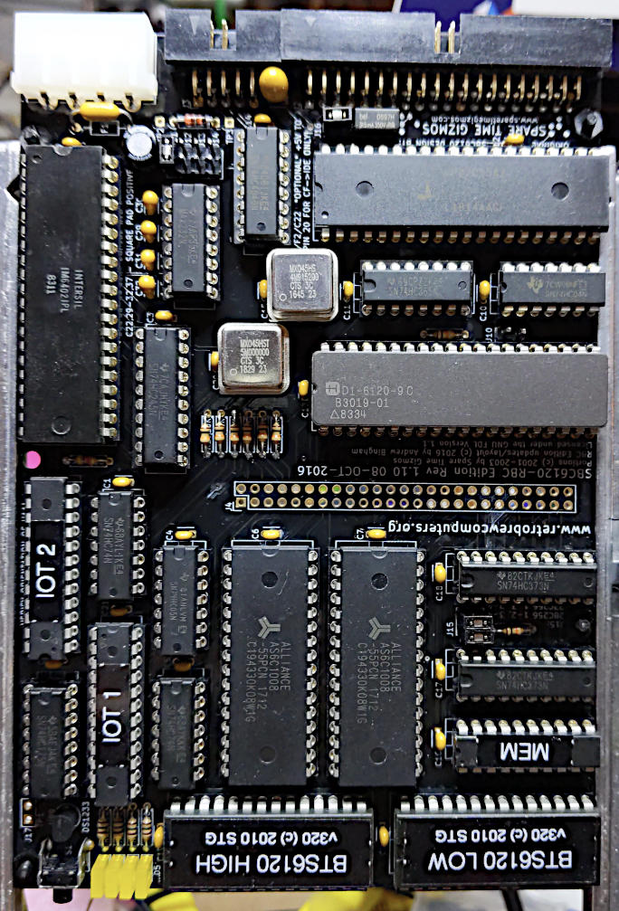 circuit board with many chips