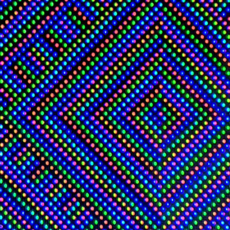 individual pixels magnified from the Wio Terminal screen